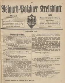 Belgard-Polziner Kreisblatt, 1921, Nr 22