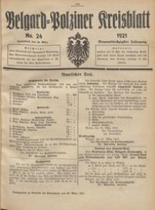 Belgard-Polziner Kreisblatt, 1921, Nr 24