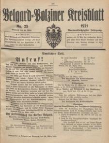 Belgard-Polziner Kreisblatt, 1921, Nr 25