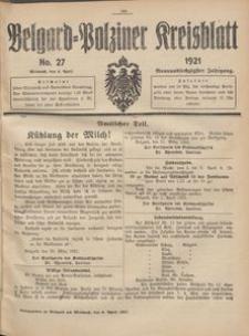 Belgard-Polziner Kreisblatt, 1921, Nr 27
