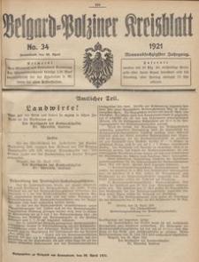 Belgard-Polziner Kreisblatt, 1921, Nr 34