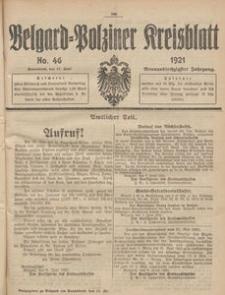 Belgard-Polziner Kreisblatt, 1921, Nr 46