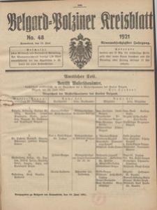 Belgard-Polziner Kreisblatt, 1921, Nr 48