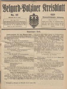Belgard-Polziner Kreisblatt, 1921, Nr 49