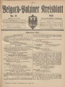 Belgard-Polziner Kreisblatt, 1921, Nr 51