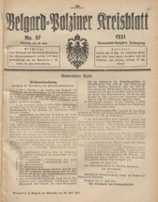 Belgard-Polziner Kreisblatt, 1921, Nr 57