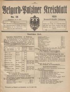 Belgard-Polziner Kreisblatt, 1921, Nr 58