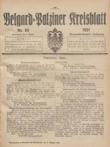 Belgard-Polziner Kreisblatt, 1921, Nr 62