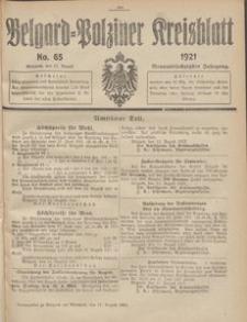 Belgard-Polziner Kreisblatt, 1921, Nr 65