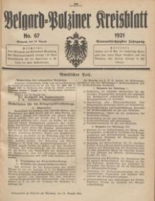 Belgard-Polziner Kreisblatt, 1921, Nr 67