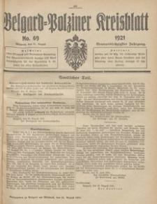 Belgard-Polziner Kreisblatt, 1921, Nr 69