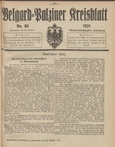 Belgard-Polziner Kreisblatt, 1921, Nr 86