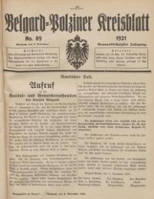 Belgard-Polziner Kreisblatt, 1921, Nr 89
