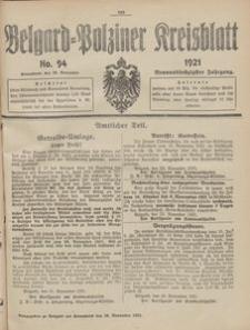 Belgard-Polziner Kreisblatt, 1921, Nr 94