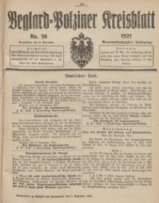 Belgard-Polziner Kreisblatt, 1921, Nr 96