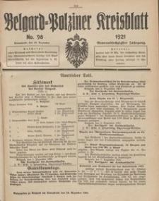 Belgard-Polziner Kreisblatt, 1921, Nr 98