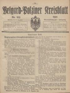 Belgard-Polziner Kreisblatt, 1921, Nr 103