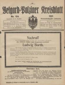Belgard-Polziner Kreisblatt, 1921, Nr 104