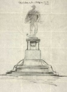 [Szkic pomnika Gebharda Leberechta von Blüchera w Słupsku]