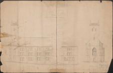 Zeichnung zum Umbau des Klostergebäudes