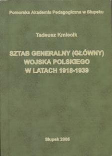 Sztab Generalny (Główny) Wojska Polskiego w latach 1918-1939