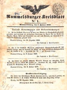 Rummelsburger Kreisblatt 1857