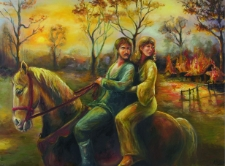Barbara i Piotr w drodze do Kielna