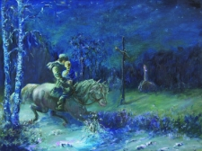 Barbara i Piotr w drodze do Odargowa