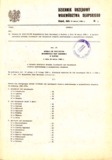 Dziennik Urzędowy Województwa Słupskiego. Nr 5/1988