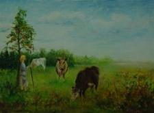 Pastwisko i pole pana Zabłockiego