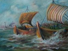 Bitwa morska u brzegów wyspy