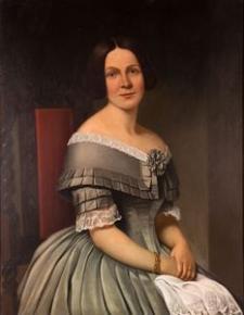 Portret kobiety z białą chusteczką