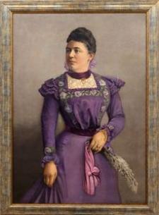 Portret kobiety we wrzosowej sukni
