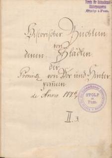 Historisches Büchlein von denen Städten der Provinz von Vor und Hinterpommern. T. 2, cz. 3