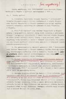 Projekt - Zasady współpracy NSZZ Solidarność oraz Komitetu Obywatelskiego w Słupsku w wyborach samorządowych w 1990 r.