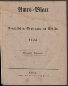 Amtsblatt der Königlichen Regierung zu Köslin 1855