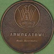 Medal - XXV Lecie Izby Adwokackiej w Koszalinie - Adwokatowi Annie Skowrońskiej