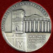 Medal - Ojciec Święty Jan Paweł II w Sejmie i Senacie Rzeczypospolitej Polskiej, 11.iV.1999
