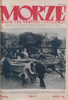 Morze, 1926, nr 8