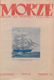 Morze, 1926, nr 11
