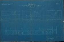 Zeichnung zur Wagenhalle II nebst Tischlerei und Amtsgebäude in dem Betriebswagenwerk Stolp. Blatt 2