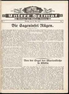 Unsere Heimat. Beilage zur Kösliner Zeitung Nr. 7/1932