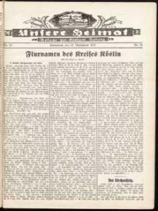 Unsere Heimat. Beilage zur Kösliner Zeitung Nr. 19/1932