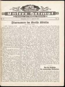 Unsere Heimat. Beilage zur Kösliner Zeitung Nr. 21/1932