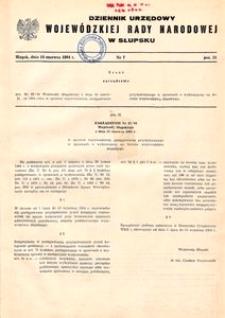 Dziennik Urzędowy Wojewódzkiej Rady Narodowej w Słupsku. Nr 7/1984