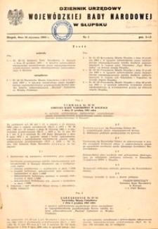 Dziennik Urzędowy Wojewódzkiej Rady Narodowej w Słupsku. Nr 1/1984
