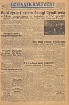 Dziennik Bałtycki, 1949, nr 187