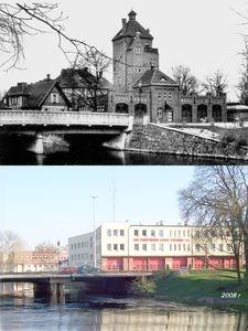 Dawny i współczesny Słupsk na fotografiach - porównanie
