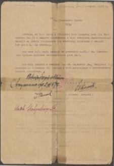 Pismo do Ob. Prezydenta Miasta