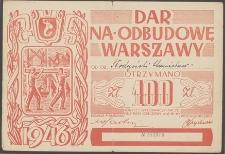 Dar na odbudowę Warszawy [cegiełka]